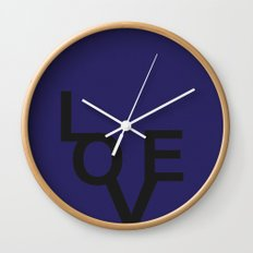 LOVE BLUE Wall Clock