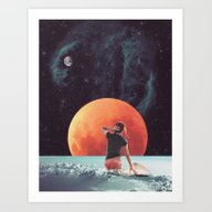 Cloud Surfing Art Print