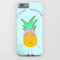 Cute Hipster Pineapple iPhone 6 Slim Case