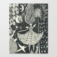 Little Goddess Canvas Print