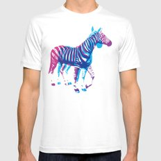 Zebras White Mens Fitted Tee SMALL