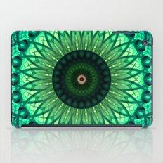 Mandala in different green tones iPad Case
