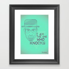 Breaking Bad - Faces - Heisenberg Framed Art Print