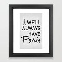 Paris Poster 01 Framed Art Print