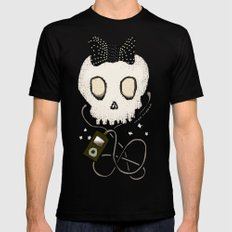 Girly Skull with Black Bow / Die for Music SMALL Mens Fitted Tee Black