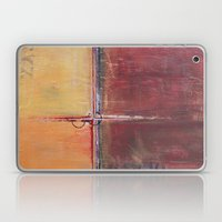 Cargo - Textured Abstract Painting - Red, Gold and Copper Art Laptop & iPad Skin