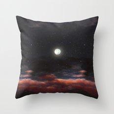 Dawn's Moon Throw Pillow