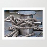 Tied & Secured  Art Print