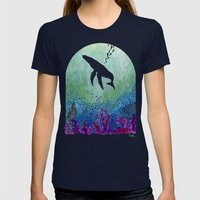 Whale Womens Fitted Tee Navy SMALL