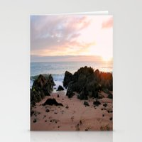 Sunrise over Bass Strait - Tasmania Stationery Cards