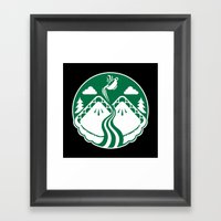 Twin Pies Coffee Framed Art Print