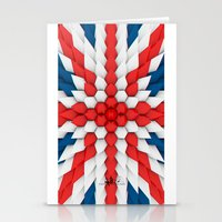 3d Poly Union Jack  Flag Stationery Cards