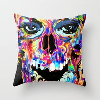 Balzak Skull Throw Pillow