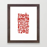 Red Zen Journey Quote Framed Art Print
