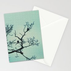 Pigeon Silhouette Light  Stationery Cards
