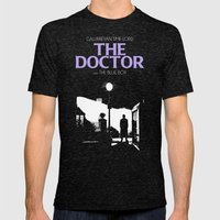 The Exorcist Movie Poste… Mens Fitted Tee Tri-Black SMALL