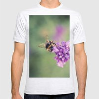 Bee Mens Fitted Tee Ash Grey SMALL