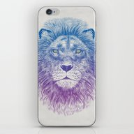 iPhone & iPod Skin featuring Face Of A Lion by Rachel Caldwell