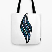 Leafy Blue Tote Bag