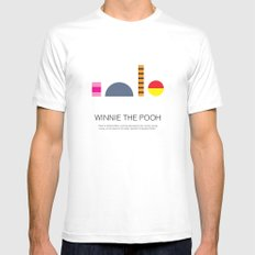 Winnie-The-Pooh SMALL Mens Fitted Tee White