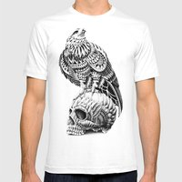 Red-Tail Skull Mens Fitted Tee White SMALL
