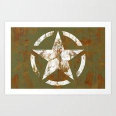 Distressed Star Art Print