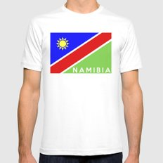 flag of Namibia SMALL White Mens Fitted Tee