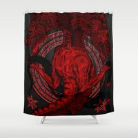 Incipit Serpent Shower Curtain