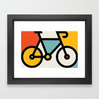 Color Bike 1 Framed Art Print