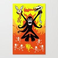 Satanic Canvas Print