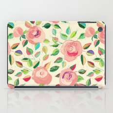 Pastel Roses in Blush Pink and Cream  iPad Case