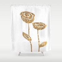 PAPERCUT FLOWER 5 Shower Curtain