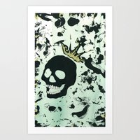 Last Laughing Skull Art Print