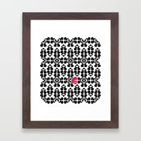 Skullz and Lace Framed Art Print