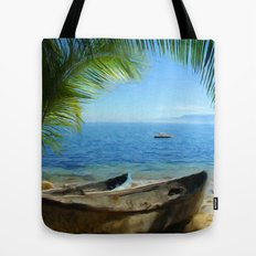 Boats at Las Caletas Tote Bag