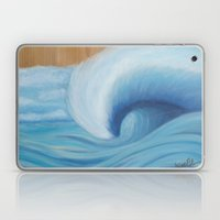 Wooden Wave Scape Laptop & iPad Skin