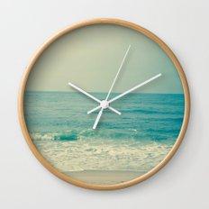 Blue H20 Wall Clock