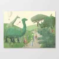 The Night Gardener - Summer Park  Canvas Print