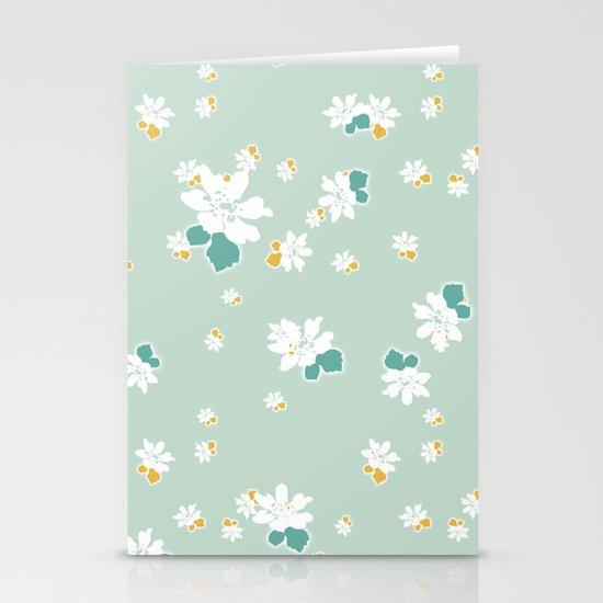 Ditsy - Eggshell Stationery Card