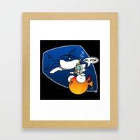 GO, FISH! Framed Art Print