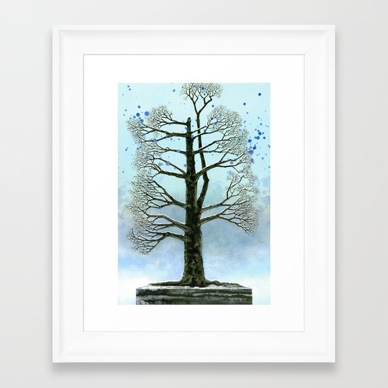 The lonely tree Framed Art Print