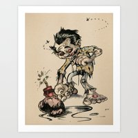 Art Print featuring How to Trick a Zombie by David Finley
