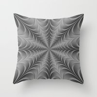 Silver Web Throw Pillow