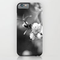 iPhone & iPod Case featuring Flowering Almond in Black and White by Katie Kirkland Photography