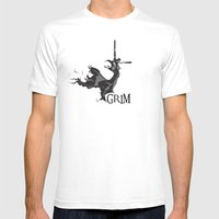 GRIM Mens Fitted Tee White SMALL