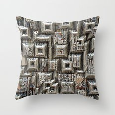 Abstract Geometric City Collage Throw Pillow