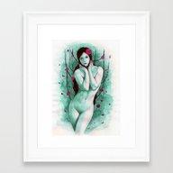 The Sad Lady Framed Art Print