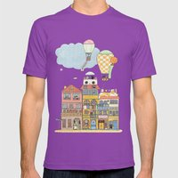 79 Cats in Harbor City Mens Fitted Tee Ultraviolet SMALL