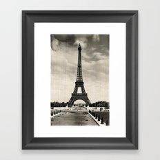 Vintage Eiffel Tower Paris Framed Art Print