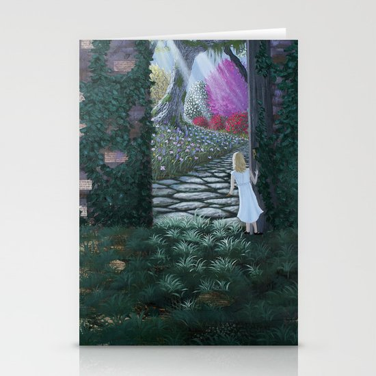 the secret garden Stationery Card